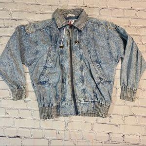 Vintage Stonewashed Jean Jacket Oversized Denim
